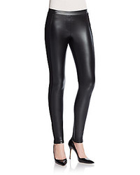 Side Paneled Faux Leather Leggings