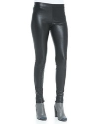 Vince Smooth Leather Leggings Black