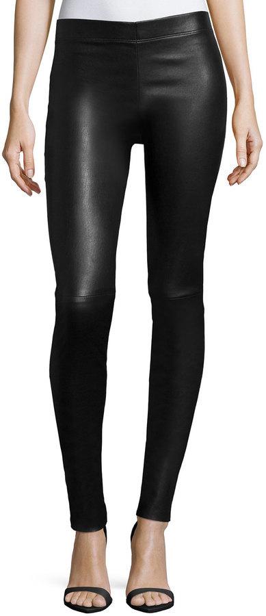 4c63242439739 Joseph Stretch Lamb Leather Leggings Black, $1,375 | Neiman Marcus ...