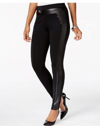 Women's Black Leather Leggings from Macy's | Women's Fashion