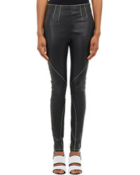 Alexander Wang T By Contrast Stitch Leather Leggings