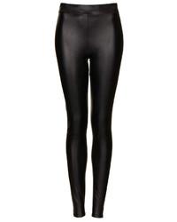 Topshop Textured Leather Look Leggings