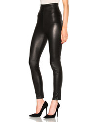 Theperfext Jessica High Waisted Leather Leggings