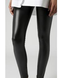 Topshop Leather Look Leggings
