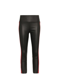 Sprwmn Triple Stripe Leather Leggings