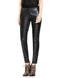 Vince Camuto Two By Faux Leather Ponte Leggings