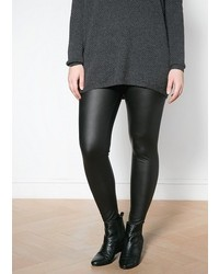Violeta BY MANGO Faux Leather Leggings