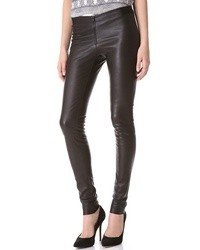 Zip front leather leggings medium 12973