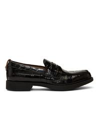 Burberry Black Croc Emile G Loafers