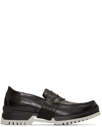 Diesel Black D Whiper Loafers