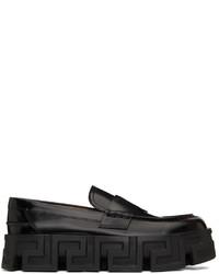 Versace Black Greca Labyrinth Loafers