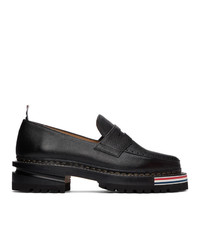 Thom Browne Black Hiking Penny Loafers