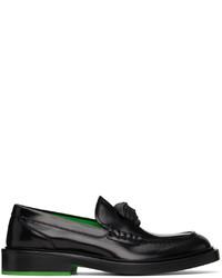 Versace Black La Medusa Loafers