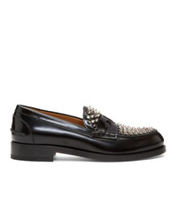 Christian Louboutin Black Montezupik Moccasin Loafers