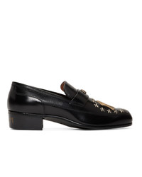 Gucci Black Ny Yankees Edition High Loomis Loafers