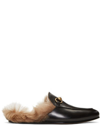 Gucci Black Princetown Slip On Loafers