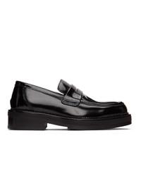 AMI Alexandre Mattiussi Black Spazzolato Loafers