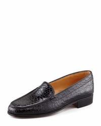 Gravati Crocodile Loafer Black
