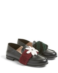 Fendi Genuine Shearling Slip On Loafer