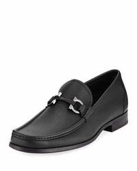 Salvatore Ferragamo Grained Calf Leather Bit Loafer
