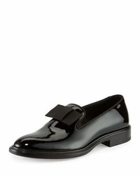 Givenchy K Line Patent Leather Bow Loafer Black