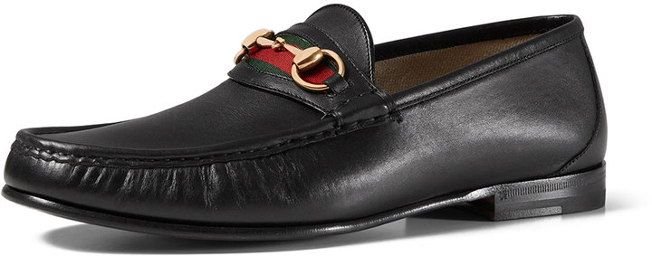 b5c83a1dc ... Gucci Leather Horsebit Loafer Black ...