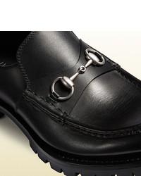 d0e93e7b254 ... Gucci Leather Lug Sole Horsebit Loafer ...