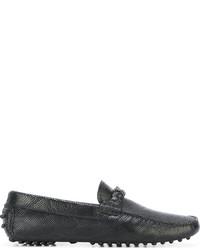 Emporio Armani Logo Strap Loafers