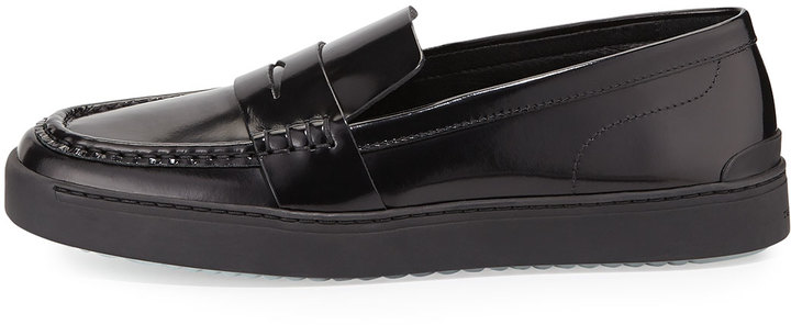 4546a083d16 Rag and Bone Rag Bone Colby Leather Sneaker Loafer Blackwhite