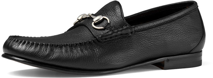 9312c7f7e ... Gucci Unlined Leather Horsebit Loafer Black ...