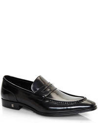 Versace Black Penny Loafers