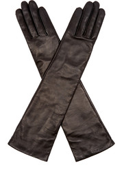 Agnelle Opera Long Leather Gloves