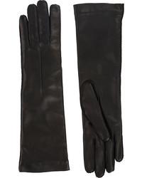 Barneys New York Cashmere Lined Long Gloves