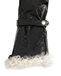 Saint Laurent Extra Long Leather Gloves W Shearling