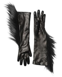Capucci Kidassia Fur Leather Gloves