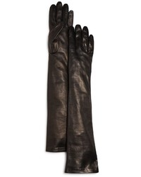 Bloomingdale's Long Leather Gloves 100%
