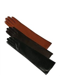 Luxury Lane Cashmere Lined Lambskin Leather Long Gloves