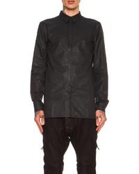 Alexandre Plokhov Pleated Cotton Blend Shirt