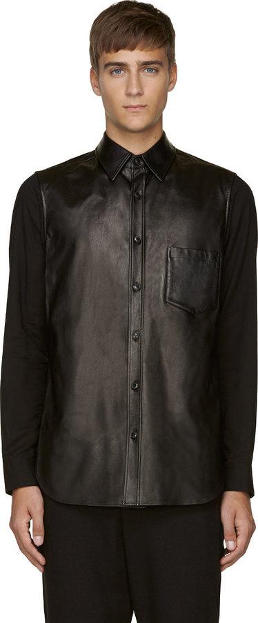 Yohji Yamamoto Black Leather Front Shirt | Where to buy & how to wear