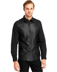 Kenneth Cole Reaction Faux Leather Panel Shirt