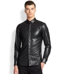 Faux leather sportshirt medium 123701