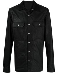 Rick Owens Two Pocket Leather Shirt