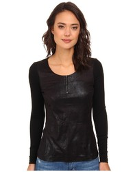 Christin Michaels Christin Michls Lilly Jersey Zip Front Top