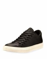 John Varvatos 315 Reed Leather Low Top Sneakers Black
