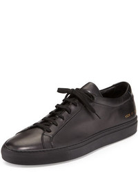 Common Projects Achilles Low Top Sneakers Black