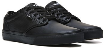 vans atwood black leather shoes