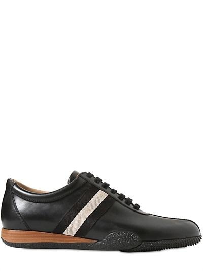 b132dcfa319a0c Bally Calf Leather Sneakers, $395 | LUISAVIAROMA | Lookastic.com