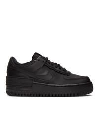 Nike Black Air Force 1 Shadow Sneakers