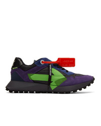 Off-White Black And Purple Arrows Sneakers