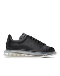 Alexander McQueen Black And Transparent Oversized Sneakers